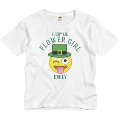 Irish Emoji Flower Girl
