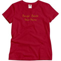 Ladies Semi-Fitted Relaxed Fit Basic Tee