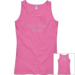 Boujie Bride Name Back Logo Silver and Pink Tank