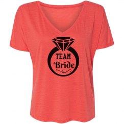 Team Bride Tshirt With Ring