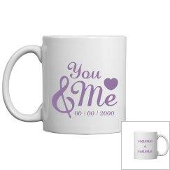 Cute Custom You And Me Mug
