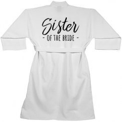 Sister to the Bride Spa Robe