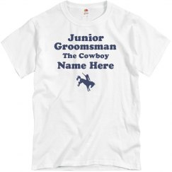 Junior Groomsman Custom Cowboy Nickname