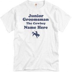 Junior Groomsman Custom Cowboy Nickname