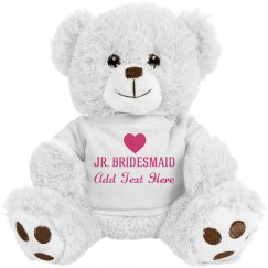 Custom Junior Bridsmaid Heart