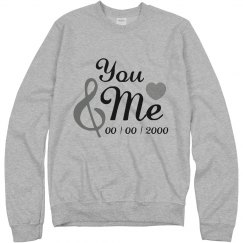 Custom You And Me Just Married
