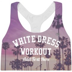 Palm Tree White Dress Workout