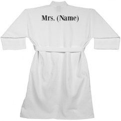 Custom Mrs Name Matching Bathrobe