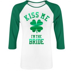 Metallic Kiss The Bride Raglan