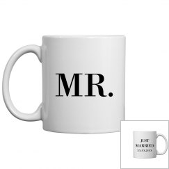 Shimmery Custom Mr Just Married