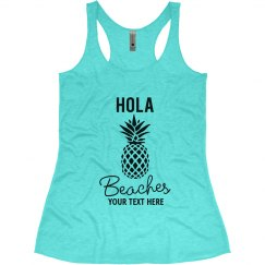 Hola Beaches Pineapple Bachelorette Tank Tops