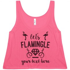 Let's Flamingle Bachelorette Personalized Crop Top