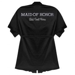 Maid of Honor Custom Metallic Robe