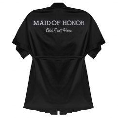 Maid of Honor Custom Metallic Robe