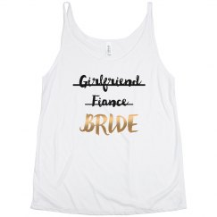 Girlfriend Fiance Bride Metallic