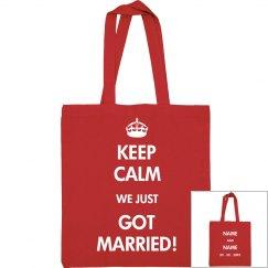 Custom Date Keep Calm Marriage
