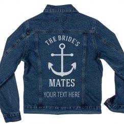 Custom Text Bride's Mates Anchor