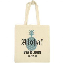 Aloha Destination Wedding Welcome Tote Bag
