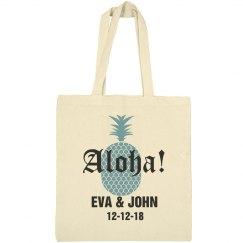 Aloha Destination Wedding Welcome Tote Bag