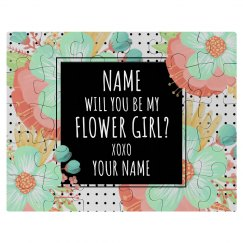 Cute Custom Flower Girl Gift
