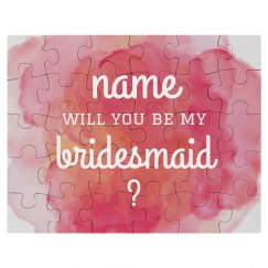 Be My Bridesmaid Puzzle Gift