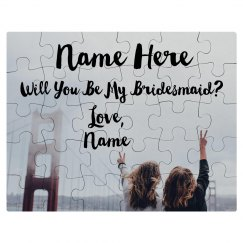 Upload Your Photo Bridesmaid Proposal