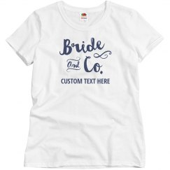 Bride And Company Custom Name