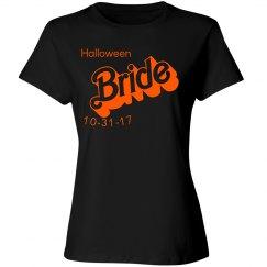 Halloween Bride Customization Date T-shirt