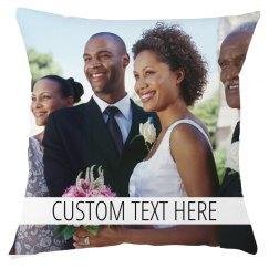 Custom Text And Wedding Photo