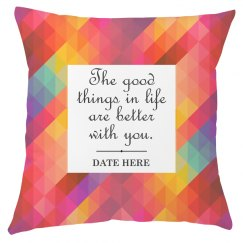 Custom Printed Pattern Love Quote