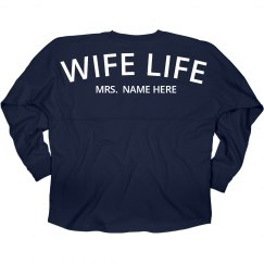 Custom Wife Life Newlywed Jersey