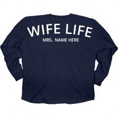 Custom Wife Life Newlywed Jersey