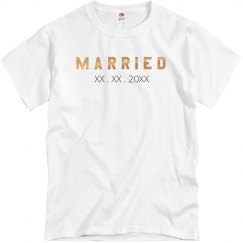 Just Married Couples Metallic