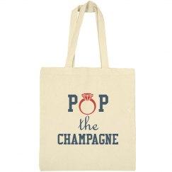 Pop The Champagne tote