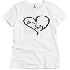 heart bride tribe tee