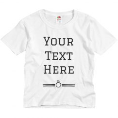 Custom Text Ring Tee