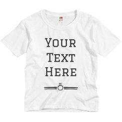 Custom Text Ring Tee