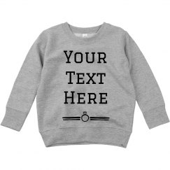 Custom Text Ring Sweater