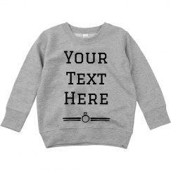 Custom Text Ring Sweater