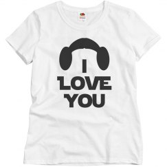I Love You, Wife or Mrs. Couples Shirt