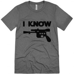 I Know, Hubby or Mr. Couples Shirt, triblend tee