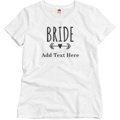 Custom Bride Heart Arrow