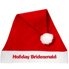 Holiday Bridemaid Santa Hat