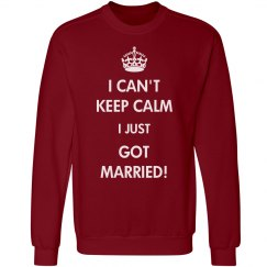 Cute Cozy Keep Calm Newlyweds