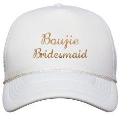 Boujie Customizable Bridesmaid Gold Metallic Text Cap