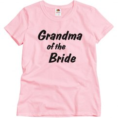 Grandma of the Bride Woman's T-shirt
