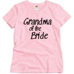Grandma of the Bride Woman's T-shirt