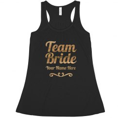 Custom Gold Team Bride Scroll