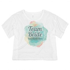 Water Color Team Bride