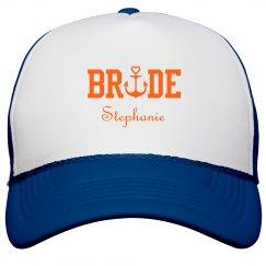 Nautical Bride Trucker Hat